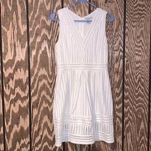 White H&M Dress! PERFECT for Graduation Pics!